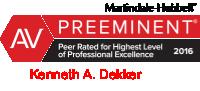 Ken Dekker AV Peer Review Rated